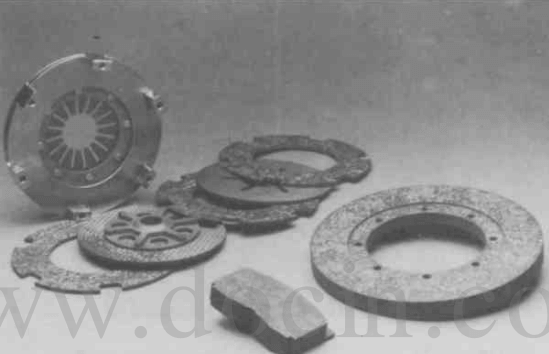 CC clutch assembly and brakes for racing cars.