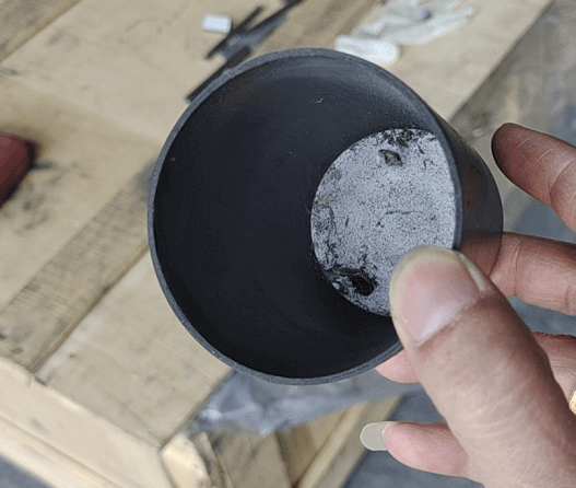 pyrolytic graphite crucible